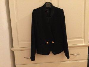 Mango Suit Blazer Damen in schwarz mit goldenen Knöpfen