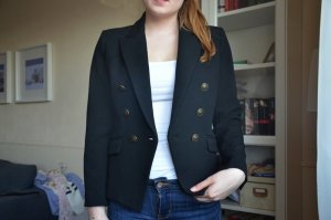 Mango Boyfriend Blazer black-gold-colored