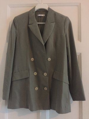 Mango Suit Blazer lungo verde-grigio