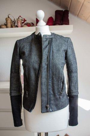 Mango Suit Blazer Jacke Größe S 36 38 Büro Business Eleganz sportlich grau Biker