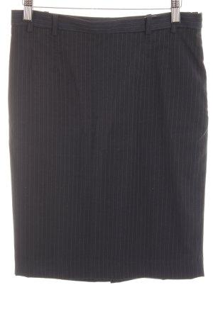 Mango Suit Bleistiftrock dunkelblau Nadelstreifen Business-Look