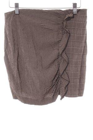 Mango Suit Bleistiftrock hellbraun-dunkelbraun Glencheckmuster klassischer Stil