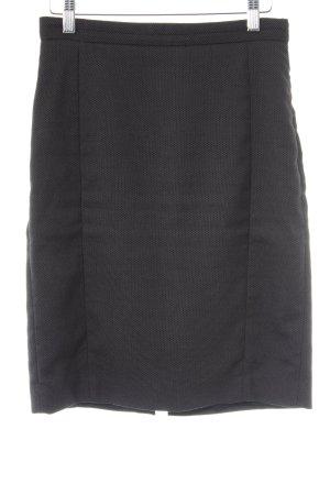 Mango Suit Bleistiftrock schwarz-taupe Business-Look