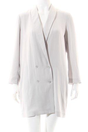 Mango Suit Bluse dunkelblau-weiß Streifenmuster Rüschenbesatz