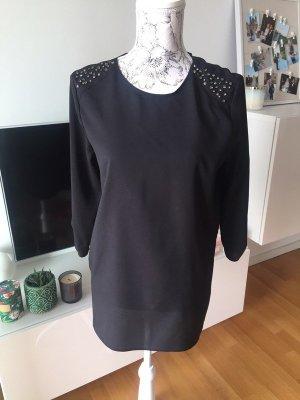 Mango Suit Bluse schwarz Strass Gr S