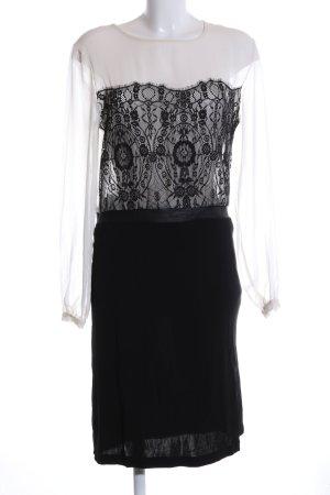 Mango Suit Blusenkleid weiß-schwarz Casual-Look