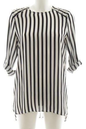 Mango Suit Blusenkleid schwarz-weiß Streifenmuster Business-Look
