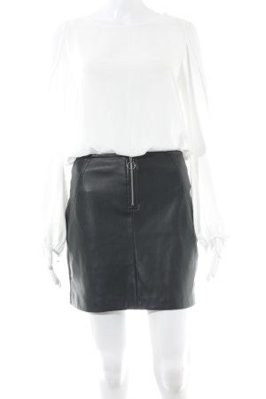 Mango Suit Blusenkleid weiß-schwarz Elegant
