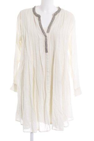 Mango Suit Blusenkleid wollweiß Hippie-Look