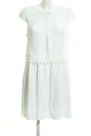 Mango Suit Blusenkleid wollweiß Punktemuster Romantik-Look