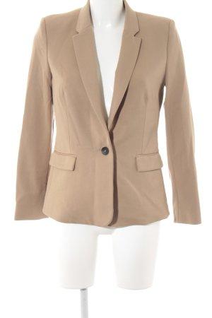 Mango Suit Blazer boyfriend beige-brun foncé style d'affaires