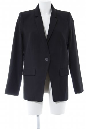 Mango Suit Boyfriend-Blazer schwarz Business-Look