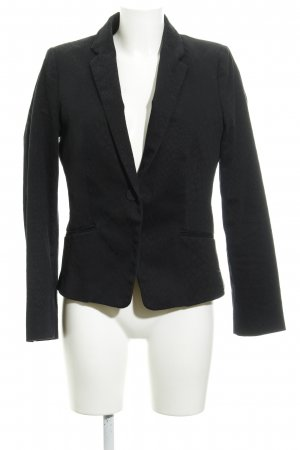Mango Suit Boyfriend Blazer black leopard pattern animal print