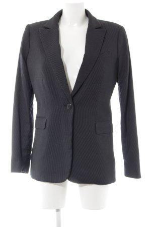 Mango Suit Boyfriend Blazer black-white striped pattern business style