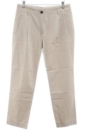 Mango Suit Bundfaltenhose beige klassischer Stil