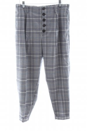 Mango Suit Bundfaltenhose Karomuster Business-Look