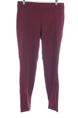 Mango Suit Bundfaltenhose purpur Business-Look