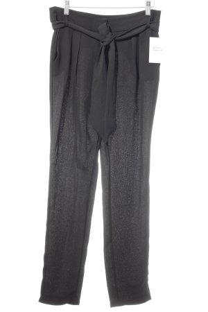 Mango Suit Bundfaltenhose schwarz Business-Look