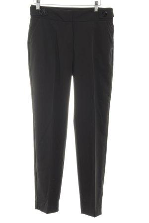 Mango Suit Bundfaltenhose schwarz Casual-Look