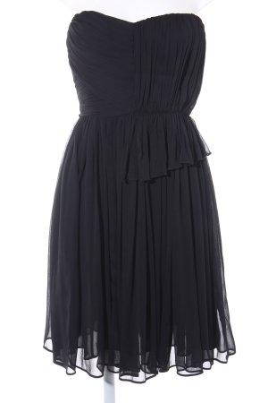 Mango Suit Vestido bustier negro elegante
