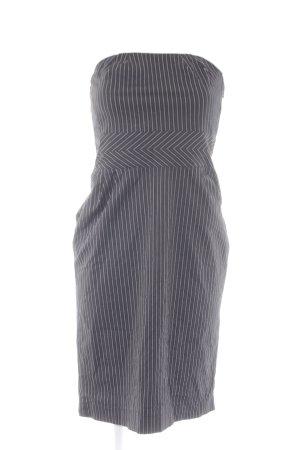 Mango Suit Bustierkleid schwarz-weiß Streifenmuster Business-Look