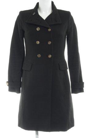 Mango Suit Heavy Pea Coat black elegant