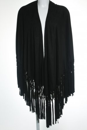 Mango Suit Cape schwarz Boho-Look