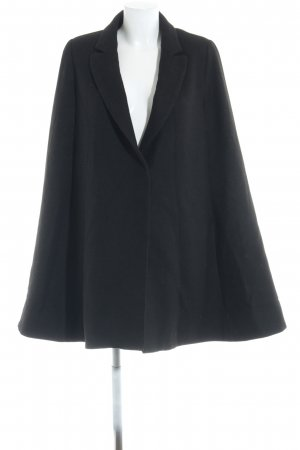 Mango Suit Capa negro elegante