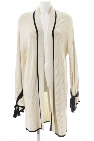 Mango Suit Cardigan schwarz-creme Webmuster Casual-Look