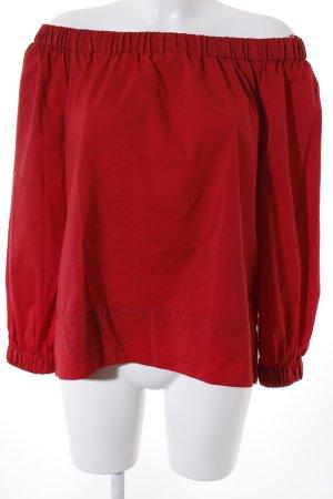 Mango Suit Carmenshirt rot schlichter Stil