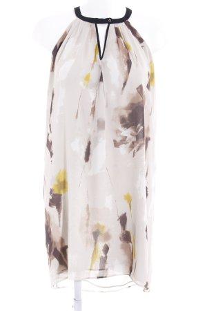 Mango Suit Chiffon jurk abstract patroon casual uitstraling