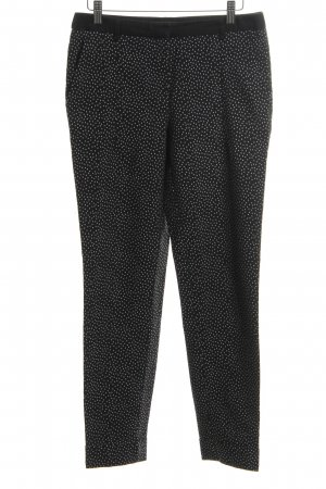 Mango Suit Chino zwart-wit gestippeld patroon casual uitstraling