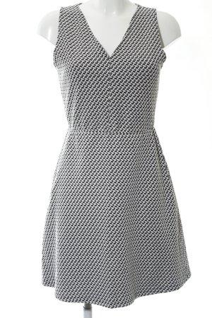 Mango Suit Cocktailkleid schwarz-weiß Allover-Druck Casual-Look