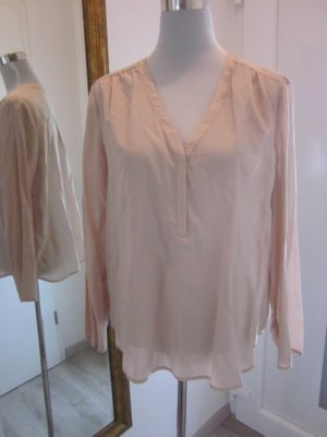 Mango Suit Collection Bluse Tunika Beige Gr L Neu
