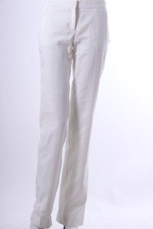 Mango Suit Creme- farbende Stoffhose