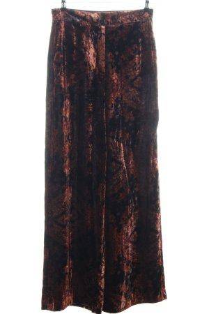 Mango Suit Culottes braun-schwarz abstraktes Muster extravaganter Stil