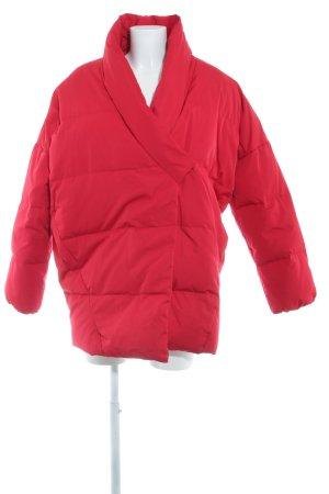 Mango Suit Daunenjacke rot-schwarz Casual-Look
