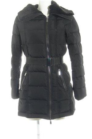 Mango Suit Daunenjacke schwarz Steppmuster Casual-Look