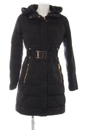 Mango Suit Daunenmantel schwarz Steppmuster Casual-Look