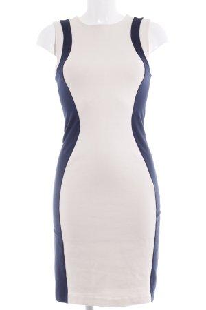 Mango Suit Etuikleid creme-dunkelblau Elegant