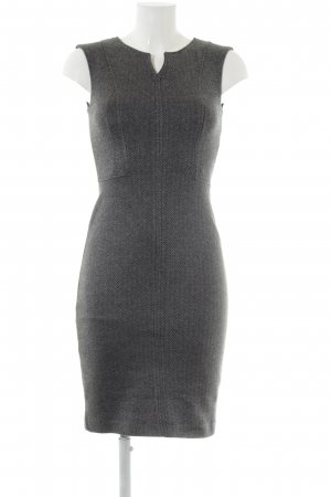 Mango Suit Etuikleid grau-schwarz Zackenmuster Business-Look