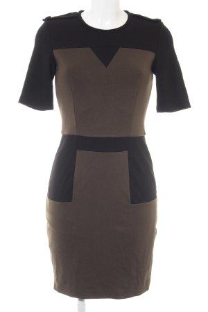 Mango Suit Etuikleid grüngrau-schwarz Elegant
