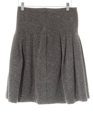 Mango Suit Plaid Skirt dark grey business style