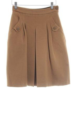 Mango Suit Jupe à plis brun style d'affaires