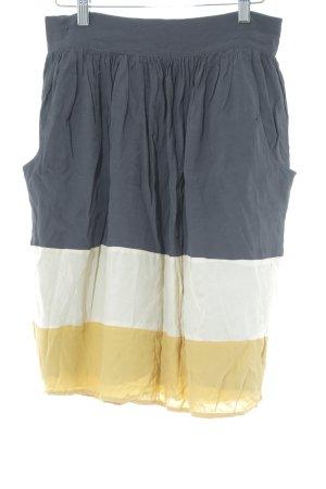 Mango Suit Plooirok gestreept patroon klassieke stijl