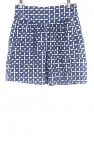 Mango Suit Plaid Skirt white-dark blue graphic pattern business style