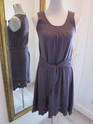 Mango Suit Feinstrick Kleid Aubergine Gr 42 #Häckel
