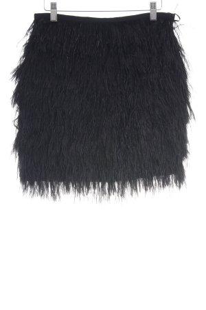 Mango Suit Franjerok zwart extravagante stijl