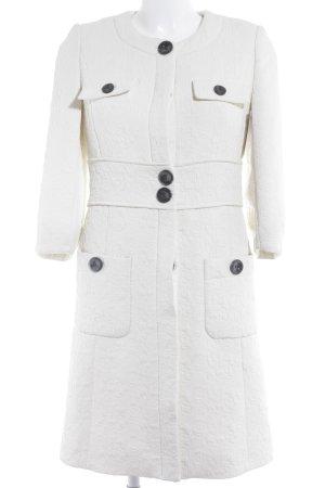 Mango Suit Levita blanco puro Mezcla de patrones elegante