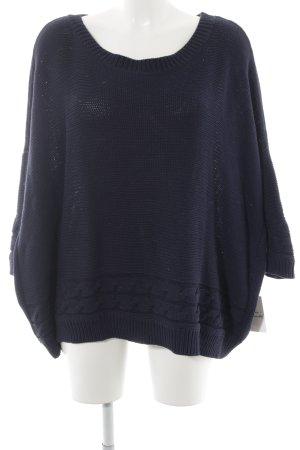 Mango Suit Grobstrickpullover dunkelblau Casual-Look